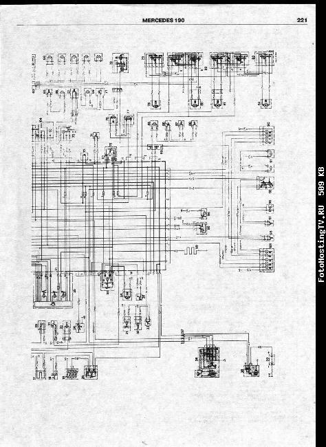 Схемы электрооборудования MERCEDES-BENZ 190, 190E (W 201