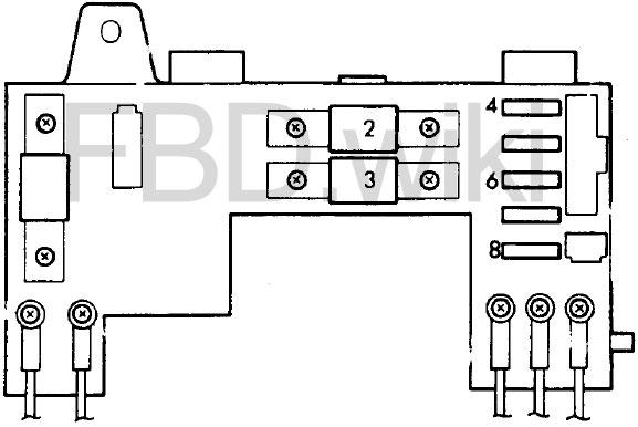 '88-'91 Honda Civic & CR-X Fuse Box Diagram