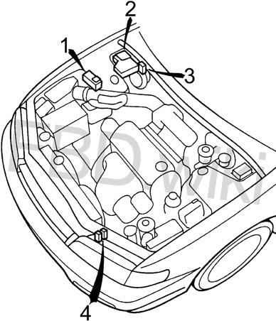 '94-'97 Honda Accord Fuse Diagram