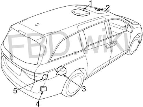 '11–'17 Honda Odyssey Fuse Diagram