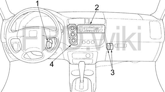 '01-'05 Honda Civic Fuse Diagram