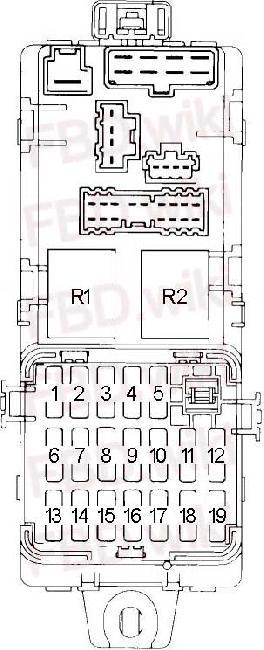 '91-'96 Mitsubishi Magna, Verada, V3000 & Sigma Fuse Box
