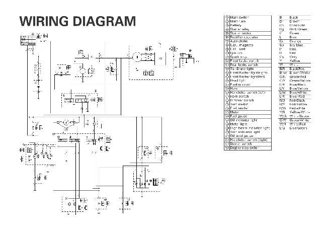 Схема электрооборудования скутера Yamaha YW50AP » Схемы