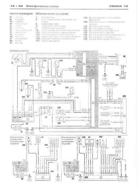 Схема электрооборудования Citroen C3 с 2002 г. выпуска