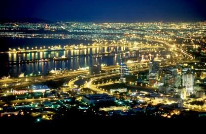 Sudáfrica, El Cabo, Capetown, vista nocturna
