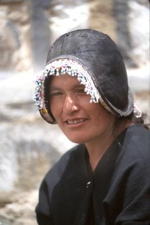 Bolivia, Chuquisaca, Tarabuco, feria dominical, montera, retrato