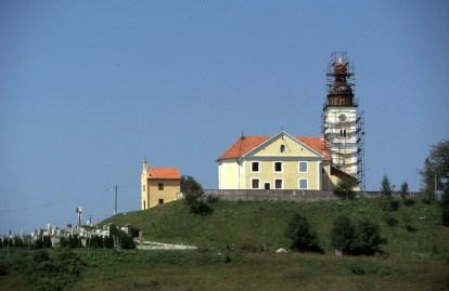 Croacia, Pregada, iglesia en restauración