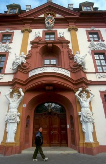 Alemania, Turingia, Erfurt, residencia del gobernador, puerta