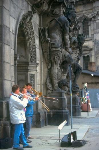 Alemania, Sajonia, Dresden, músicos