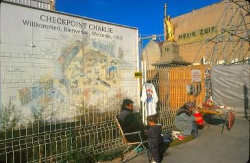 Alemania, Berlín, Checkpoit Charlie, antigua frontera de la RDA
