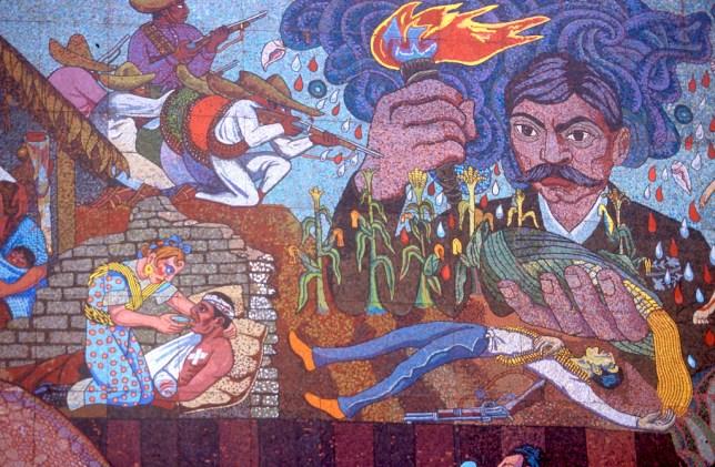 México, DF, Teatro de los Insurgentes, murales obra de Diego Rivera