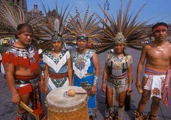 Mexico DF, bailarines Concheros, retrato