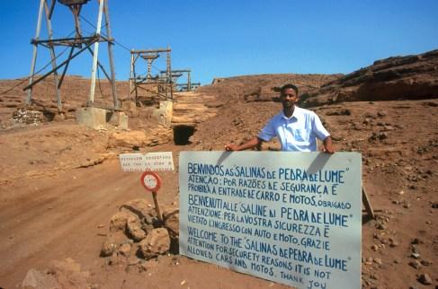 Cabo Verde, Isla de Sal, Pedra de lume, Salinas, retrato