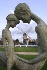 Flandes, Wenduine, playas del Mar del Norte, escultura