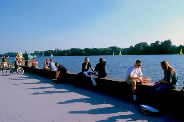 Alemania, Baja Sajonia, Hannover, Lago Maschsee
