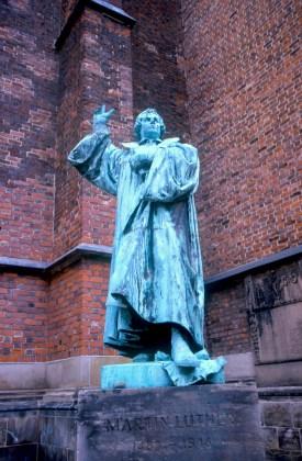 Alemania, Baja Sajonia, Hannover, Martin Luther, escultura