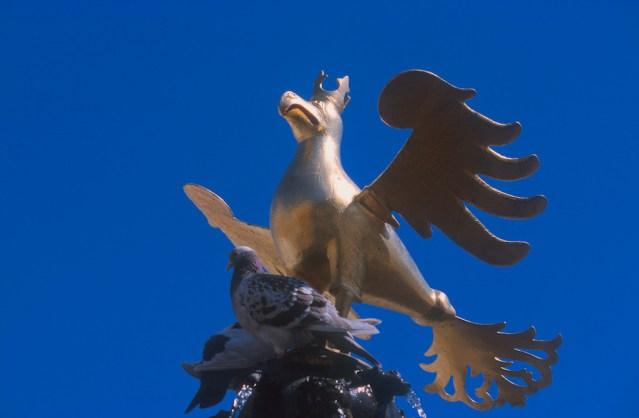 Alemania, Baja Sajonia, Goslar, palacio imperial, el Aguila un símbolo imperial