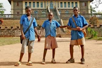 Camerún, Bafut, Fondom, Chefferie, escolares