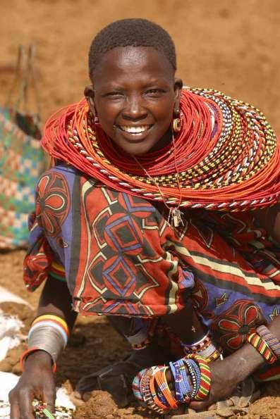 Kenya, Nacional Buffalo Springs, Mujer Samburu.