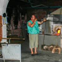 The hard work of glass blowing in Murano