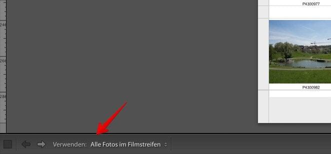 Lightroom Kontaktabzug - Fotos verwenden
