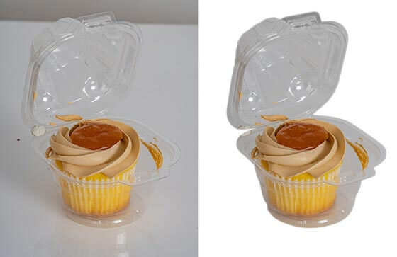 Before and after effect of photo background removal service