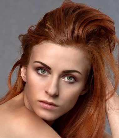 Model photo hair masking
