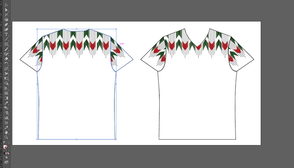 Multi paths for Sewing Pattern