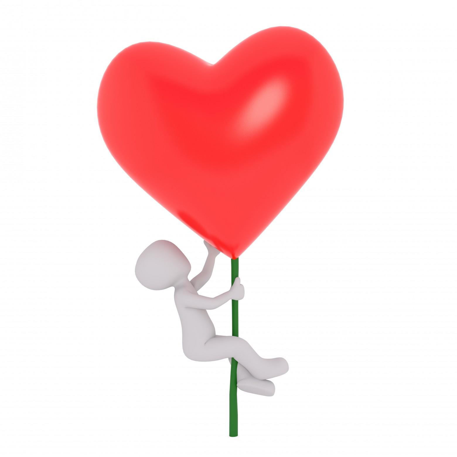 Bonhomme Blanc 3d Amour Coeur Rouge Images Gratuites Et