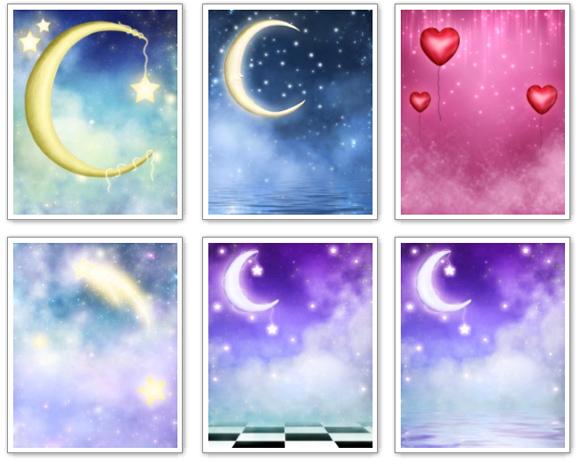Fondos De Corazones Y Estrellas: Fondos Para Fotos De Buenas Noches, La Luna, Estrellas Y