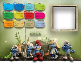Los Pitufos Calendario 2012