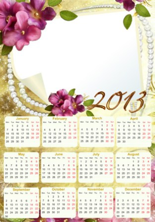 Calendario 2013 Romántico. Calendarios Personalizados 2013