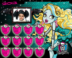 Calendarios 2013 Monster High Destacada