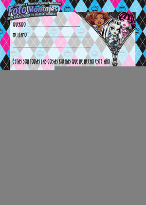 Carta a los Reyes Magos de Monster High