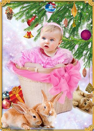 Fotomontajes de Navidad para Bebés