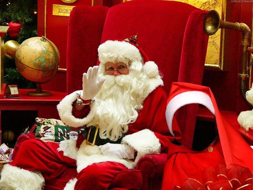Fotomontaje Navideño con Papá Noel. Fotomontajes de Navidad.