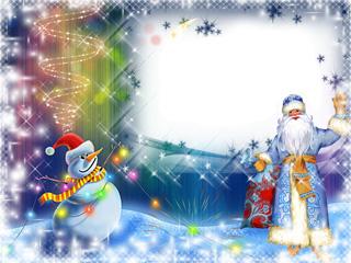 Fotomontajes Navidad. Marcos Navideños