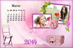 Calendario 2014 Mes Marzo