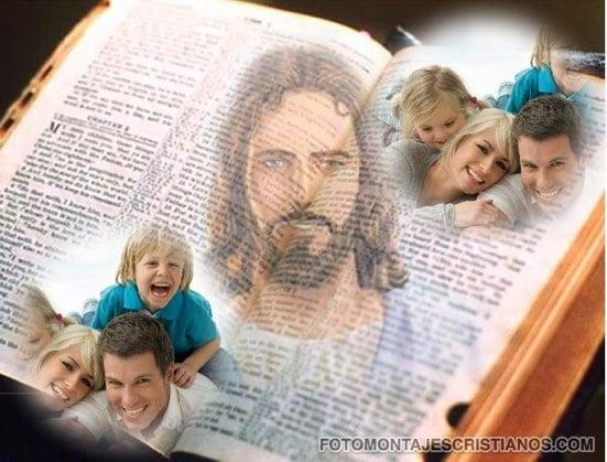 fotomontajes cristianos de jesus y la biblia
