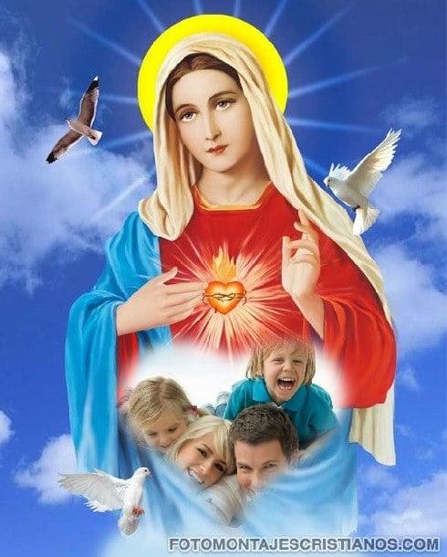 fotomontajes cristianos inmaculado corazon de maria