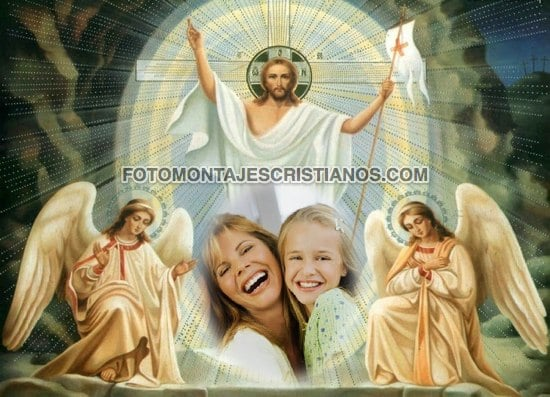 fotomontajes con jesus y los angeles