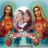 Fotomontaje cristiano de Bendiciones
