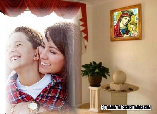 fotomontajes cristianos de cuadro con la virgen maria