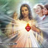 Fotomontajes religiosos con el Sagrado Corazón de Jesús