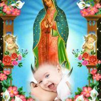 Fotomontaje con la Virgencita de Guadalupe