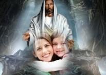 """Mi foto con Jesús y frase """"Jesús me protege hoy y siempre"""""""