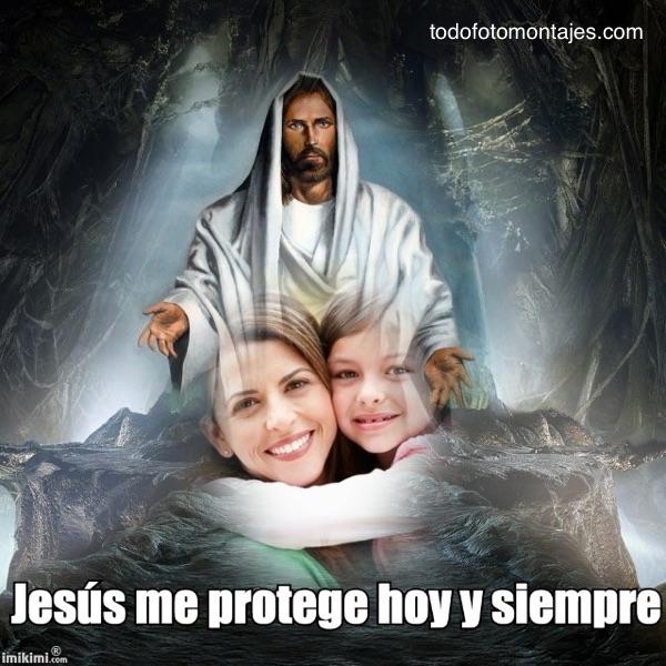 Fotomontaje de mi foto con Jesús