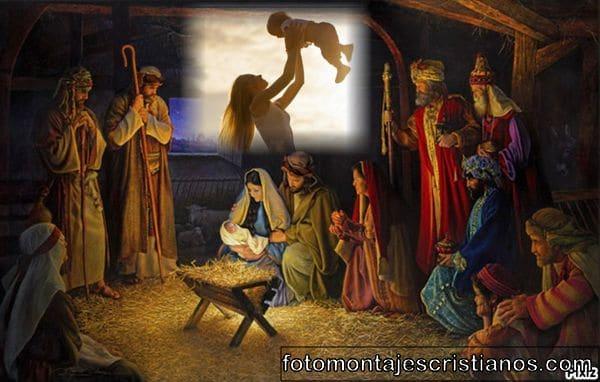 Fotomontajes de Pesebre de Navidad