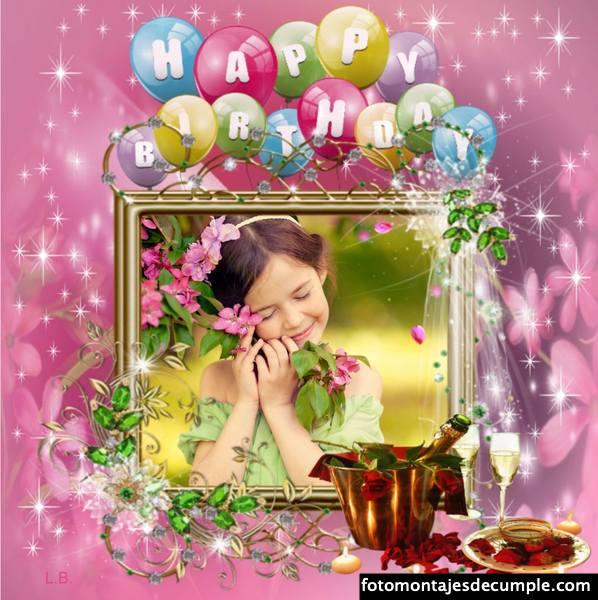Fotomontajes lindos de cumpleaños