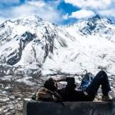 Los Himalaya desde Muktinath, a 3700 metros de altitud.